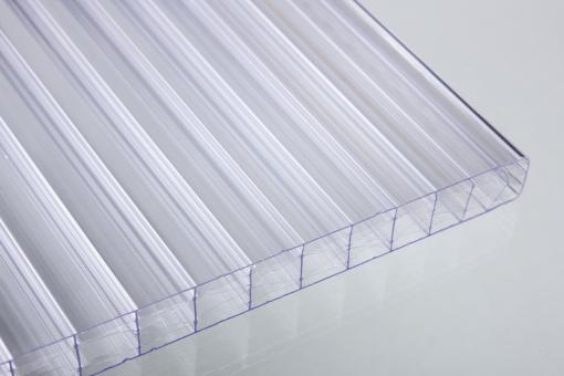 16 mm Stegdreifachplatten glashell X-Struktur