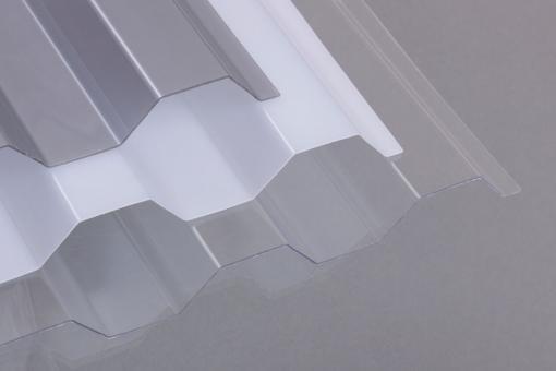 Lichtplatten Polycarbonat 76/18 Trapez opal 0,9 mm