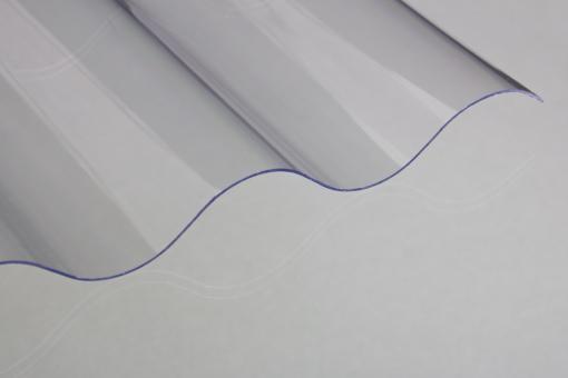 Lichtplatten Polycarbonat 76/18 Sinus klar 0,9mm