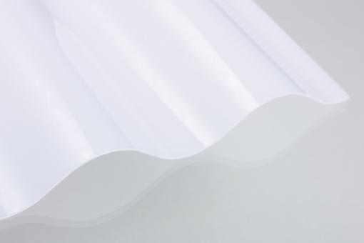 Lichtplatten Polycarbonat 76/18 Sinus opal 0,9mm