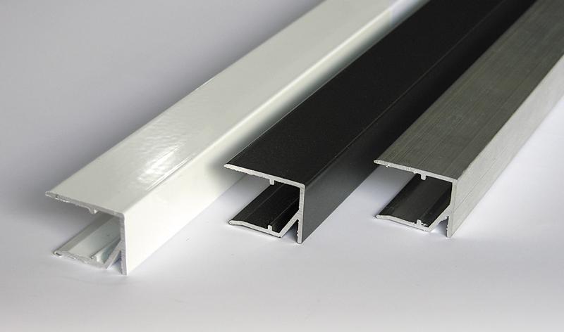alu abschlussprofil 980mm wei geschlitzt verbindungsprofile online kaufen dachplatten shop. Black Bedroom Furniture Sets. Home Design Ideas